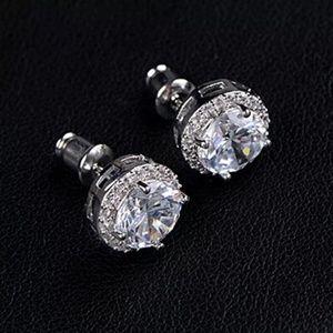 Women's 18K White Gold Plated Ear Stud Earrings